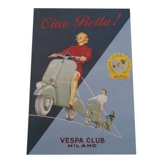 "Italian ""Ciao Bella"" Vespa Club Art Print"