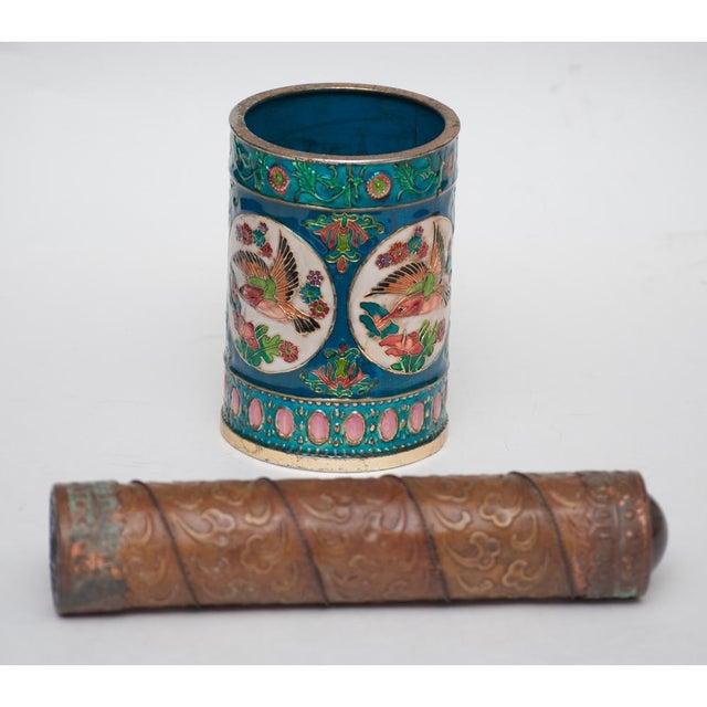 Vintage Peking Brush Pot & Kaleidoscope - Image 4 of 11