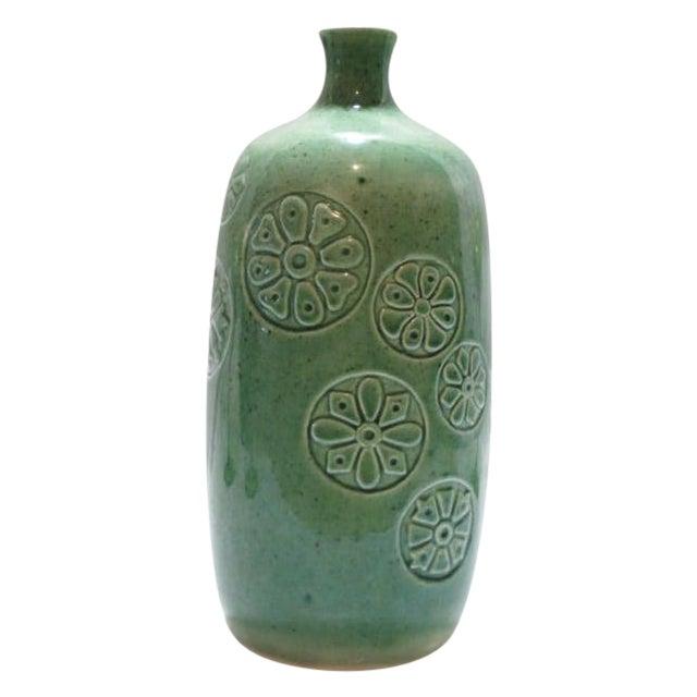 Image of Vintage Keramikos Green Porcelain Vase