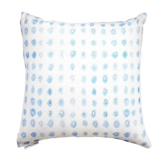 "Blue Kiwis Linen Pillow - 18"" X 18"""