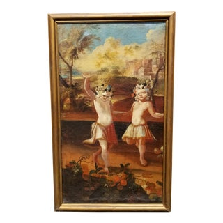 """""""Two Girls Dancing"""" Oil Painting"""