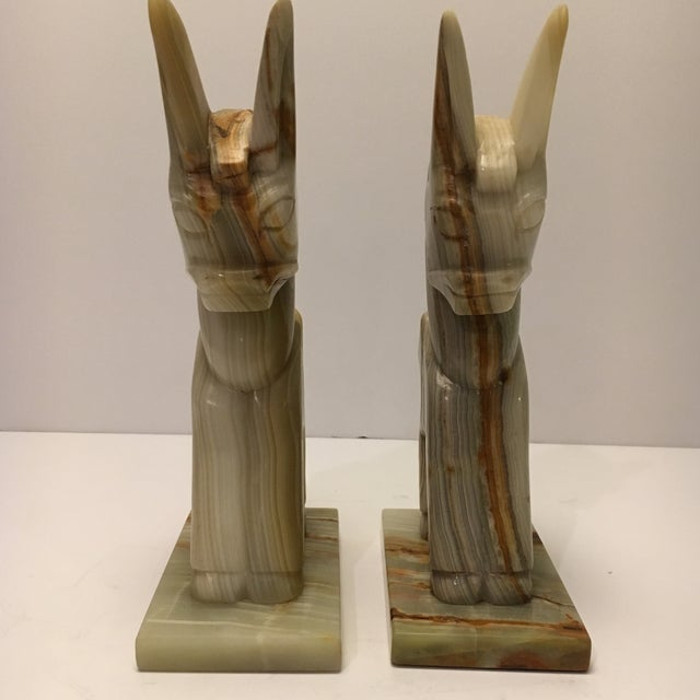 Vintage Marble Donkey Bookends - A Pair - Image 4 of 7