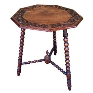Antique Bobbin Twist Octagonal Table