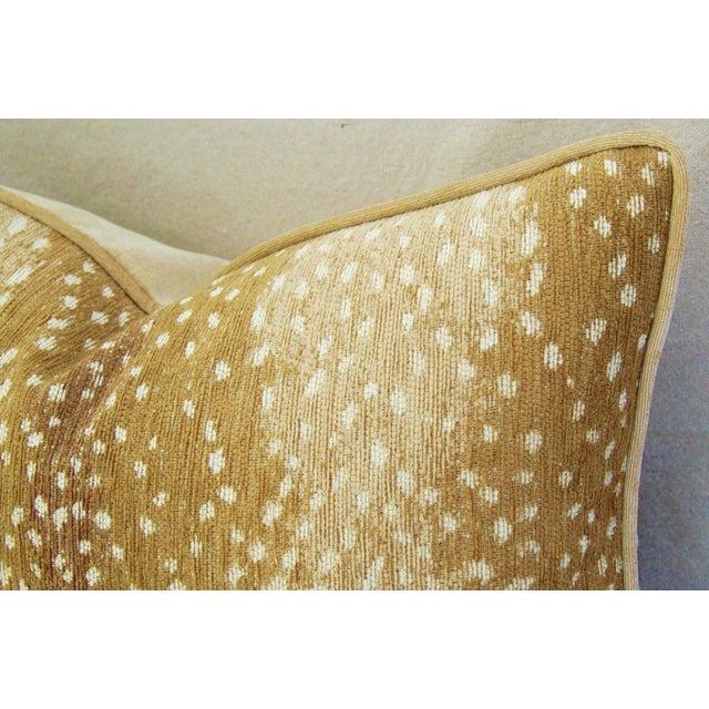 Antelope Fawn Spot Velvet Pillows- a Pair - Image 9 of 10