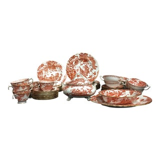 Royal Crown Derby Red Aves Bone China Set - 35 Pieces