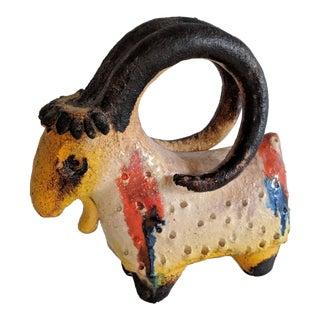 Mid-Century Modern Italian Pottery Goat