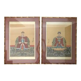 Chinese Ancestor Portraits - a Pair