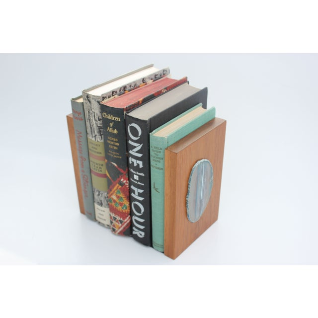 Agate Slice and Wood Bookends - Image 7 of 8