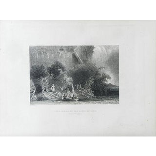 "1883 Antique Print ""The Landing"""