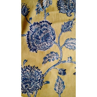 Duralee Yellow & Blue Agathe Fabric