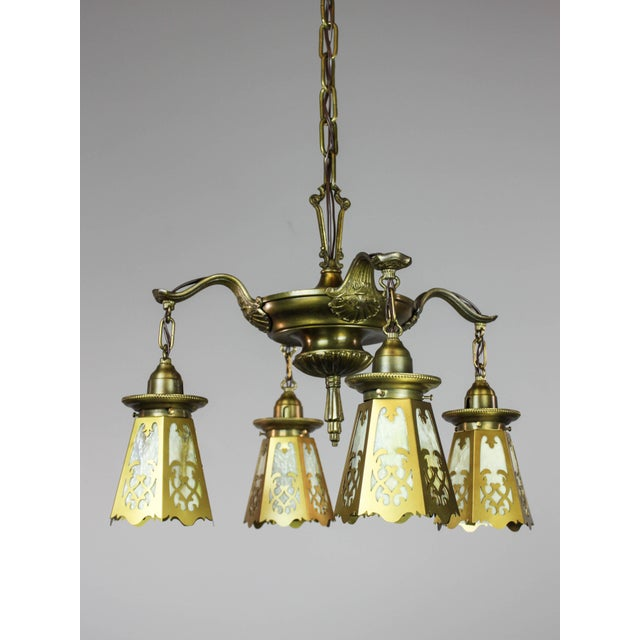 Antique Colonial Revival Pan Light Fixture (4-Light) - Image 6 of 11