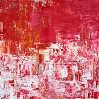 Modern Pink Abstract Painting