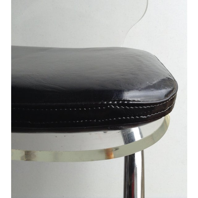 Vintage Lucite & Chrome Bar Stools - A Pair - Image 2 of 5