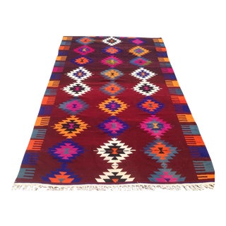 Vintage Turkish Kilim Rug - 6′3″ × 10′3″