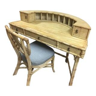 Ficks Reed Demilune Desk & Chair
