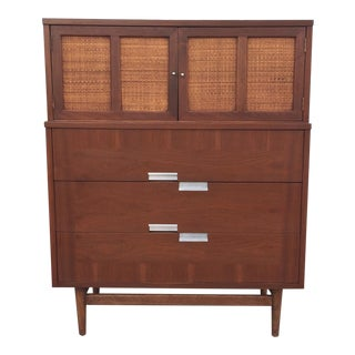 American of Martinsville Walnut Highboy