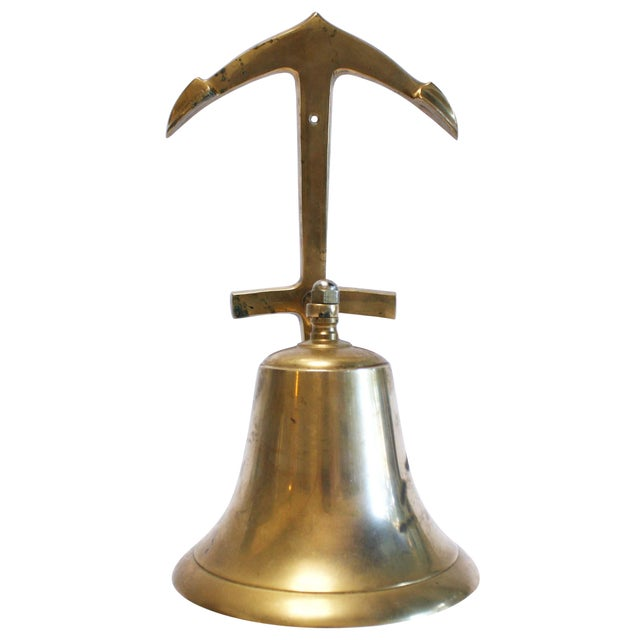 Nautical Brass Anchor Ship Bell - Image 1 of 7