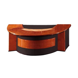 R.A.Mobili Antares Wood & Leather Office Desk