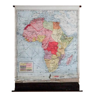 Vintage Cram's Pull Down Map of Africa
