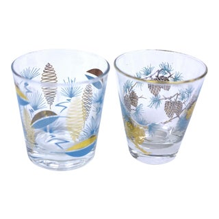 Mid-Century Modern Cocktail Glasses - Set of 2