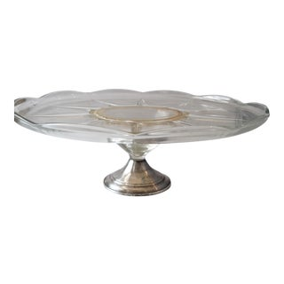 Sterling Silver & Glass Cake Stand