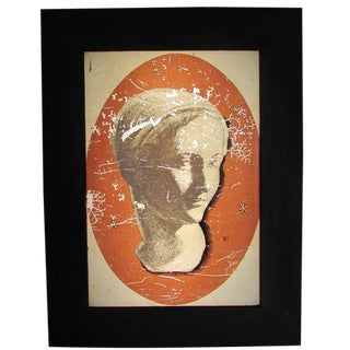 Light Box with Female Bust