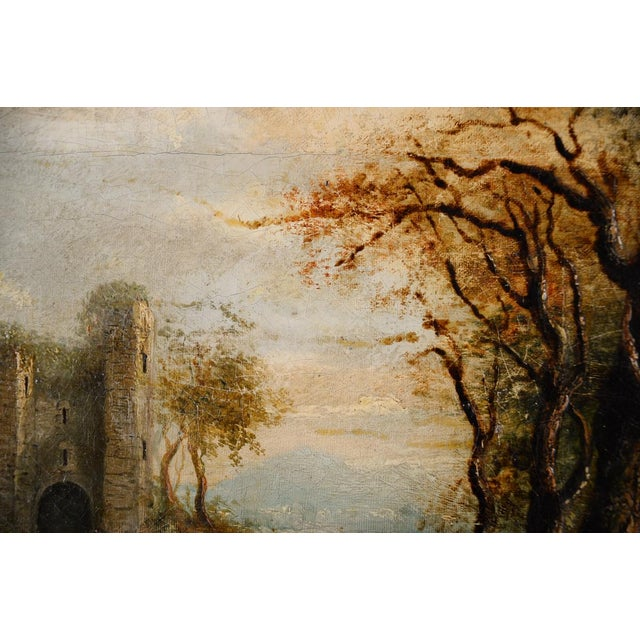 18th-C. Castle Ruins Oil Painting - Image 5 of 9