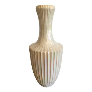 Tall Opalescent Vase