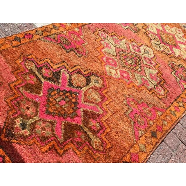 Vintage Turkish Runner Rug - 3′6″ × 10′10″ - Image 6 of 7