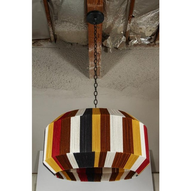 Customizable Paul Marra Large Sculptural Hand-Dyed String Pendant - Image 2 of 8