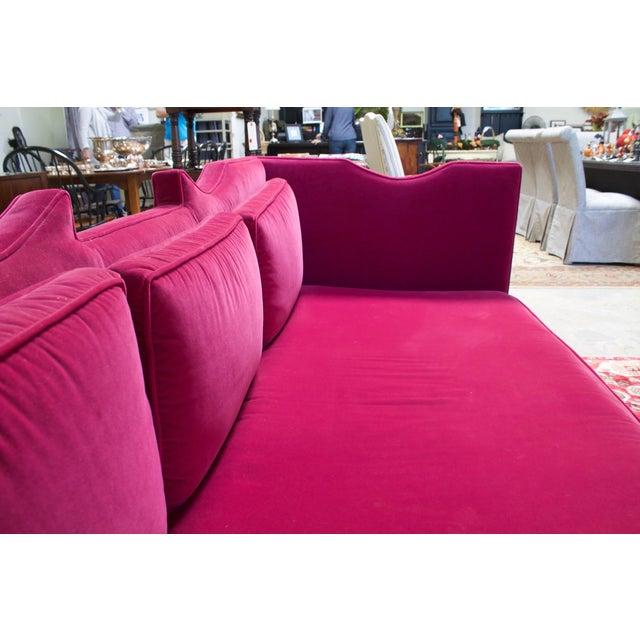 Deep Pink Velvet Sofa - Image 5 of 5