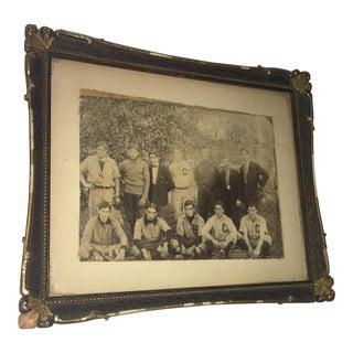 Vintage Framed Team Photo