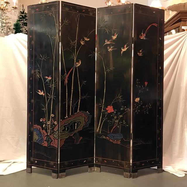 Vintage Or Antique Japanese Panel Room Divider Chairish - 4 panel room divider