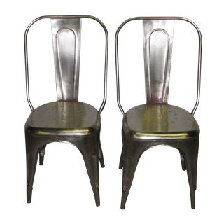 Steel Industrial Chairs - A Pair