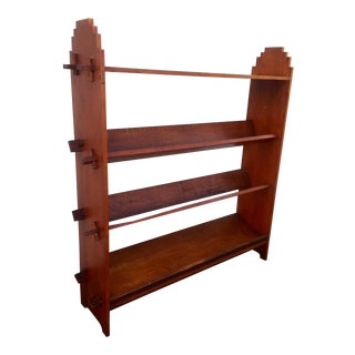 Vintage Distressed Wood Bookcase