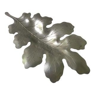 Vintage Pewter Leaf