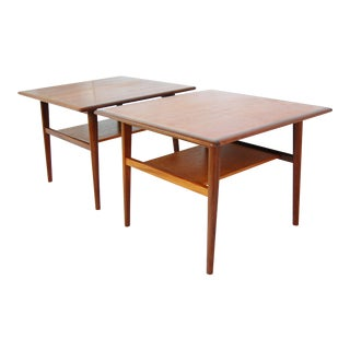 Aase Molle & Traevarefabrik Teak End Tables - A Pair