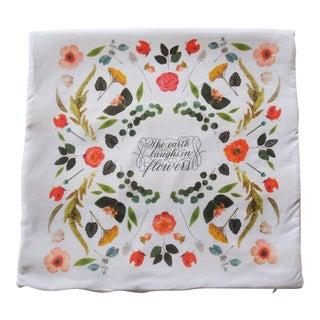 Floral Kaleidoscope Motif Pillow Cover