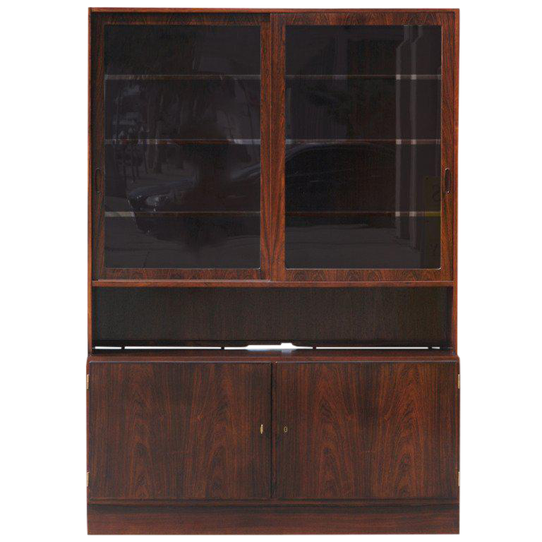 Danish Teak Buffet With Hutch By Poul Hundevad