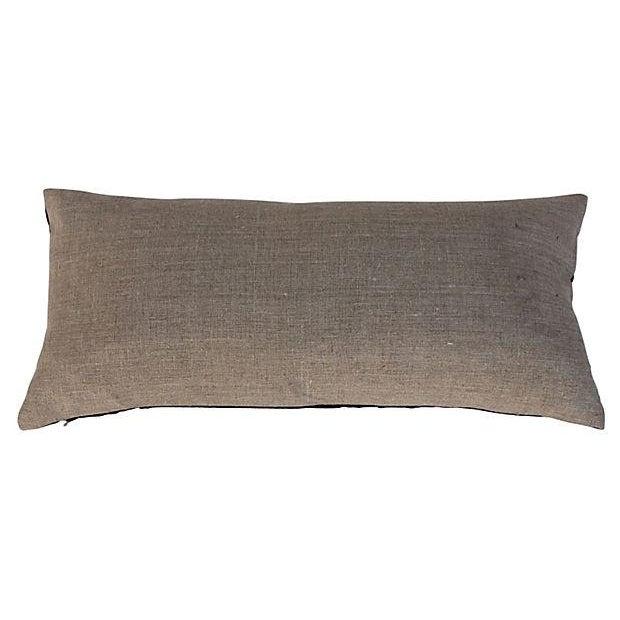 Image of Silk Hill Tribe Khaki Textile Pillow