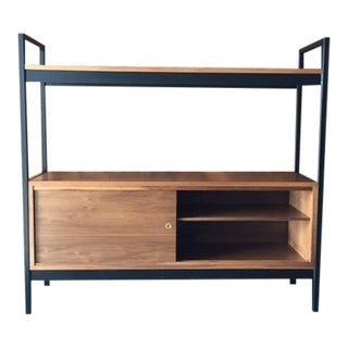 Mid-Century Style Walnut Credenza Shelf
