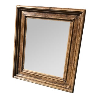 Antique Rustic Wood Mirror