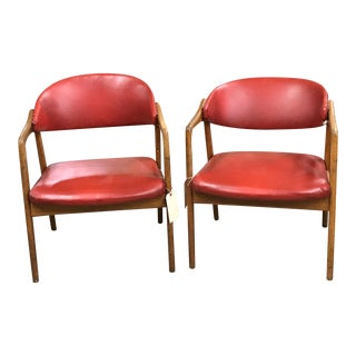 """Yngve Ekstrom """"Puck""""Karmstolar Chairs, 1957 - A Pair"""
