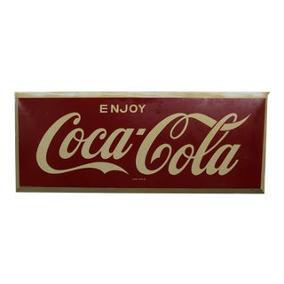 1970s Wide Rectangle Coca Cola Sign