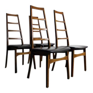 Mid-Century Ladder Back Dining Chairs - Set of 4