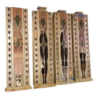 1970's Art Deco Egyptian Nude Female Mixed Media Panels Art Installation - Set of 4