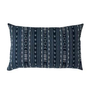Vintage Guatemalan Deep Indigo & Black Ikat Pillow