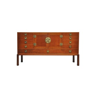 Walnut and Brass Sideboard by Edward Wormley for Dunbar