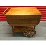 Image of Vintage Solid Maple Drop-Leaf Tea Cart