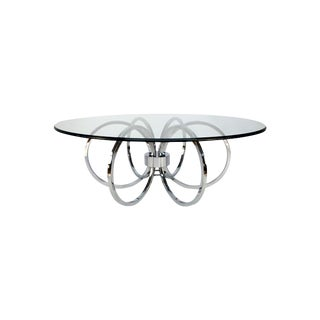 Chrome Ring Coffee Table